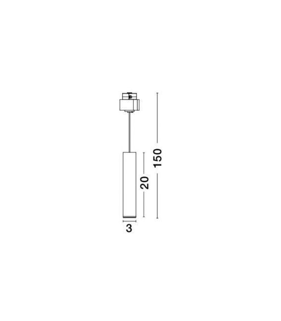 10W LED Magnetinis šviestuvas JAZZ Brass 9012676