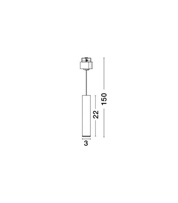 15W LED Magnetinis šviestuvas JAZZ Black 9025201
