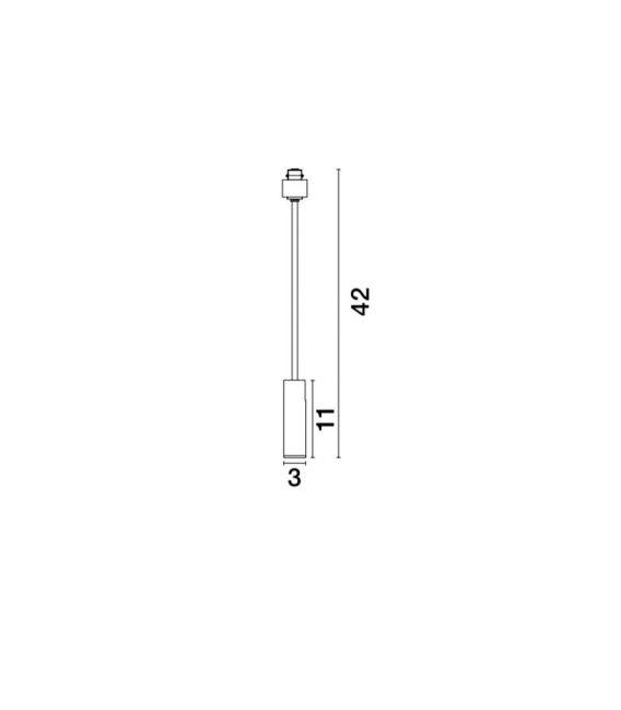 10W LED Magnetinis šviestuvas TEK Black H42 8252031