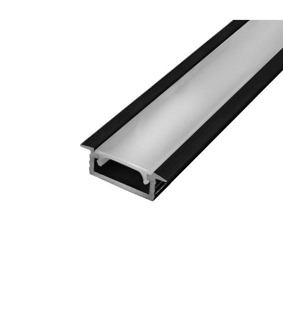 LED profilis įleidžiamas juodas PROF-151 1m PROF-151-1Mb