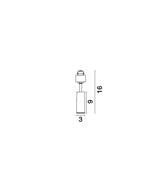 5W LED Magnetinis šviestuvas NAP Black 3000K 8252039