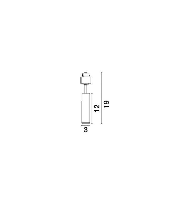 10W LED Magnetinis šviestuvas NAP Black 3000K 680Lm 8252029