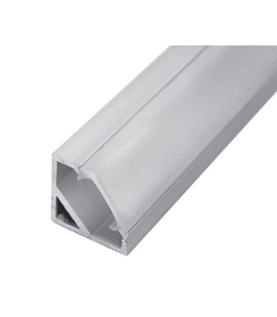LED profilis CORNER 45' 1m kampinis PROF-COR45-1Ms