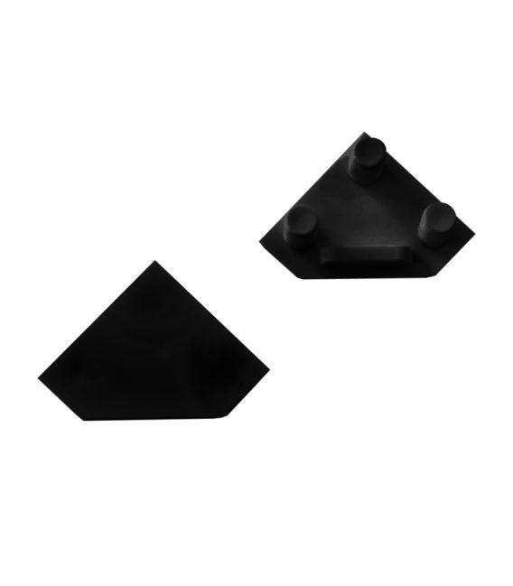 Aklė profiliui kampiniam CORNER 45' 1vnt. juoda PROF-COR45-ENDCAP-b