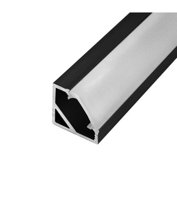 LED profilis CORNER 45' 1m Juodas PROF-COR45-1Mb
