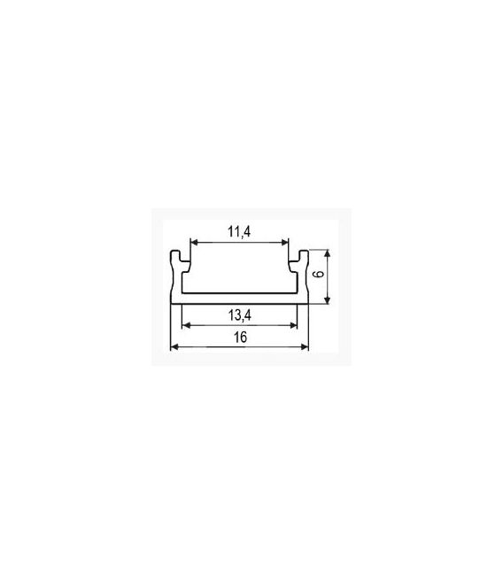 LED profilis paviršinis 1m Juodas PROF-150-1Mb