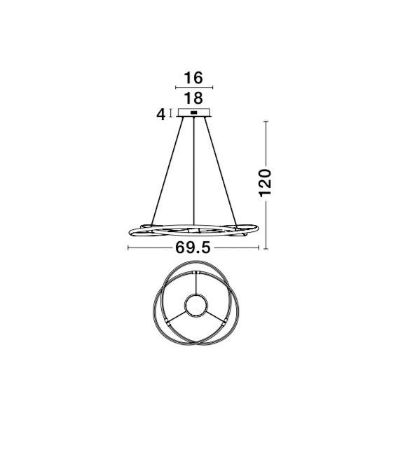 38W LED Pakabinamas šviestuvas BLINK 9988002