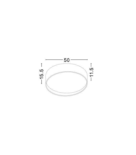 34W LED Lubinis šviestuvas FANO Ø50 71045002