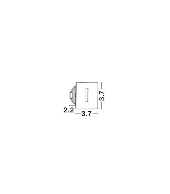 1W LED Įmontuojamas šviestuvas PASSAGGIO Square White IP54 8090801
