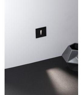 1W LED Įmontuojamas šviestuvas PASSAGGIO Square Black IP54 9045418