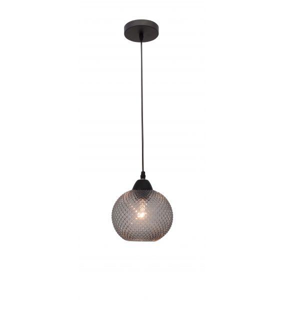 Pakabinamas šviestuvas PORTO 1 Dark Grey Glass 8103993