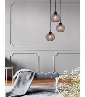 Pakabinamas šviestuvas PORTO 3 Gray Glass 8103994