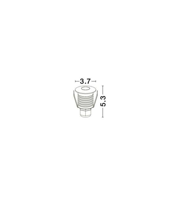 1W LED Įmontuojamas šviestuvas BANG 1 Round White IP67 8039001