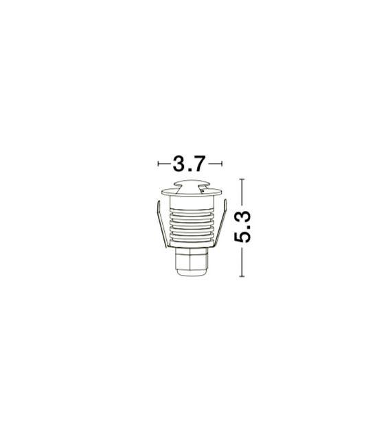 1W LED Įmontuojamas šviestuvas BANG 2 Round White IP67 8038801
