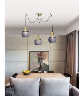 Pakabinamas šviestuvas AUBREY 3 Gray Glass 8823002