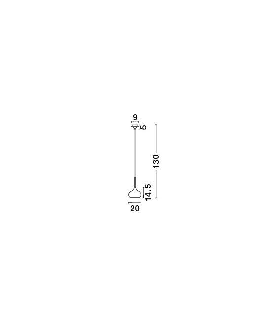Pakabinamas šviestuvas CIOTO Chrome Ø20 5704801