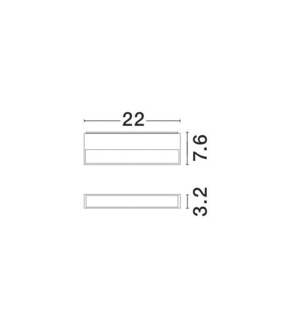 12W LED Sieninis šviestuvas FUNGO IP54 9027201