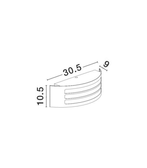 Sieninis šviestuvas ZENITH H10 IP44 713113