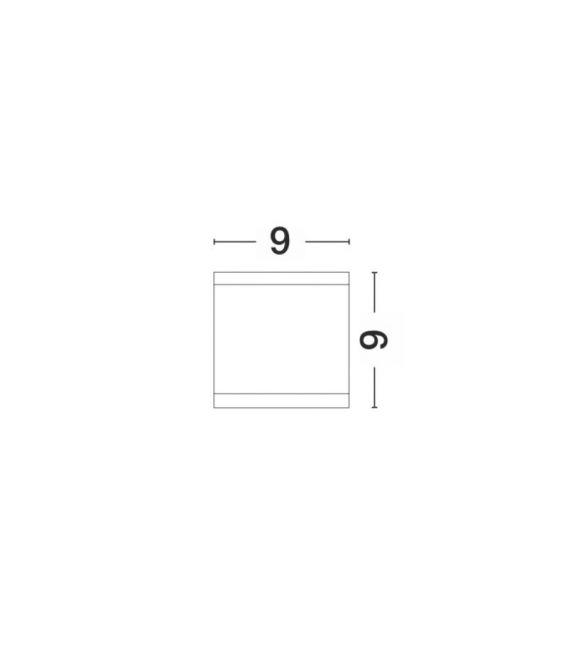 Lubinis šviestuvas CERISE Gray Ø9 IP54 9020061