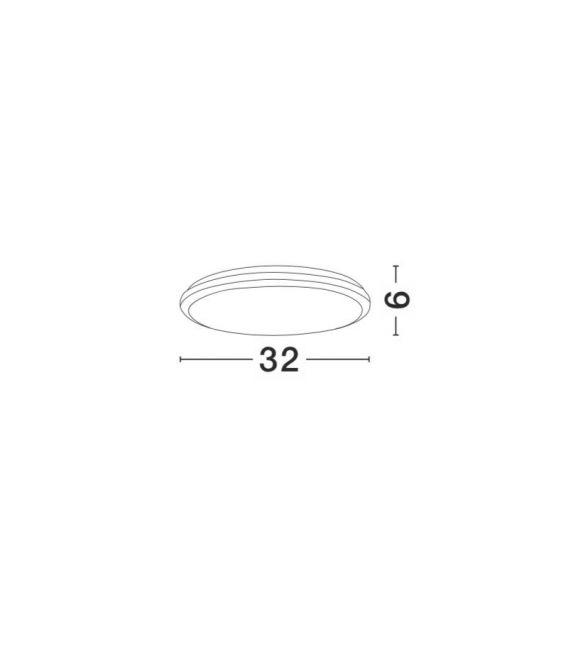 30W LED Lubinis šviestuvas TOMMY Round IP54 9521001