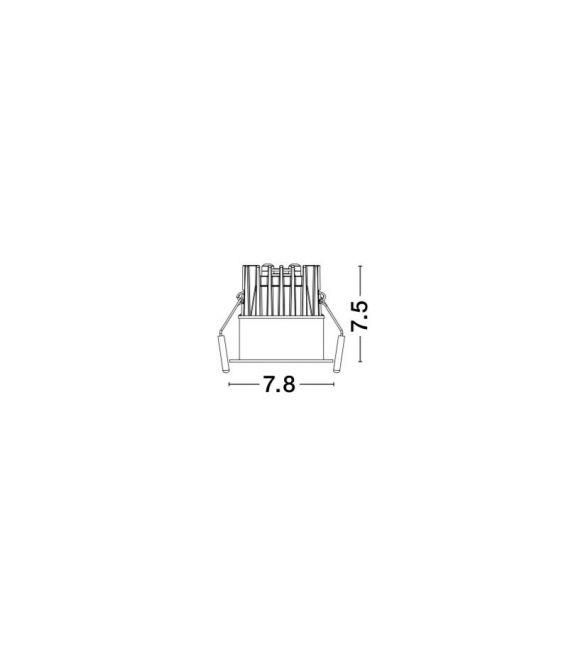 12W LED Įmontuojamas šviestuvas BLADE White Ø7.8 IP65 9232116