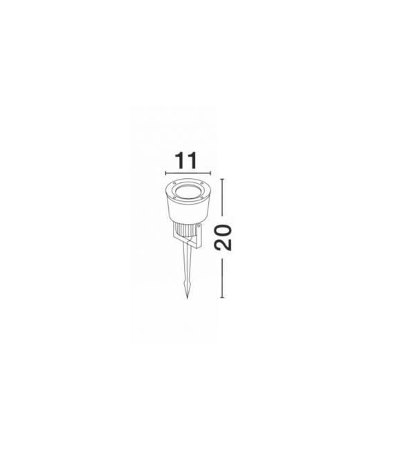 Įsmeigiamas šviestuvas INSIDE Gray H20 IP54 767801