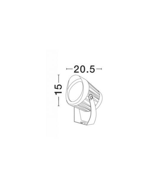 30W LED Pastatomas šviestuvas NORTH Black Ø15 IP65 9240679