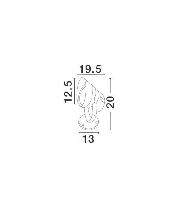 18W LED Pastatomas šviestuvas NORTH Gray IP65 742071