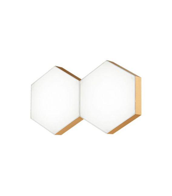 10W LED Sieninis šviestuvas PETTINE Gold 1300303202