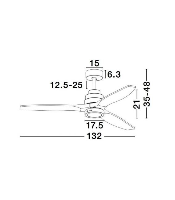 12W LED Lubinis šviestuvas SABAL 5231401