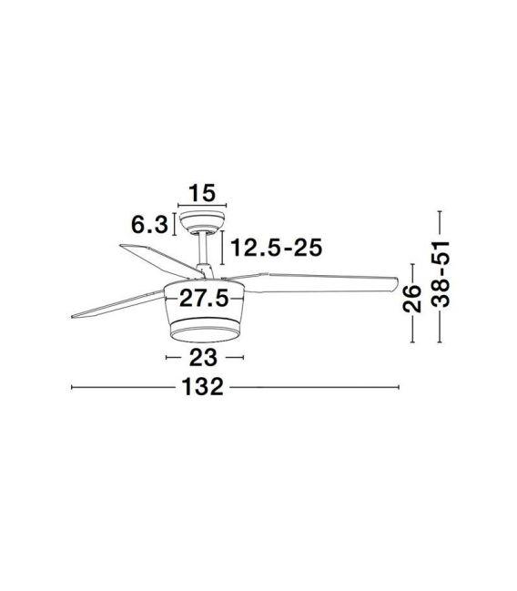 18W LED Lubinis šviestuvas MONSOON Black 5260251