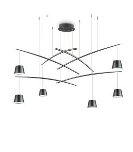 37W LED Pakabinamas šviestuvas FISH 6 Black 196992