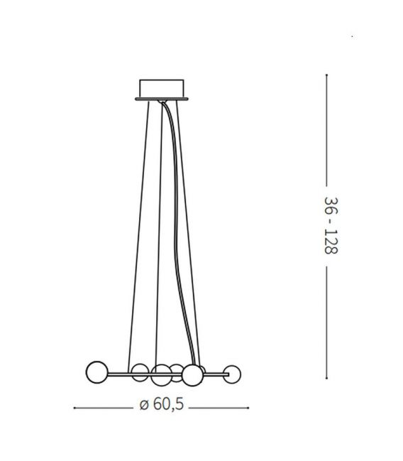 Pakabinamas šviestuvas ORBITAL SP10 73828