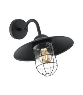 Sieninis šviestuvas MELGOA Black IP44 94792