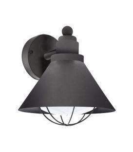 Sieninis šviestuvas BARROSELA Black IP44 94805