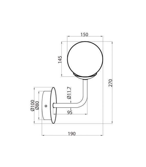 Sieninis šviestuvas ERICH MOD221-WL-01