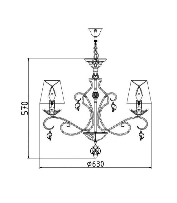 Pakabinamas šviestuvas MONILE 6 ARM004-06-W