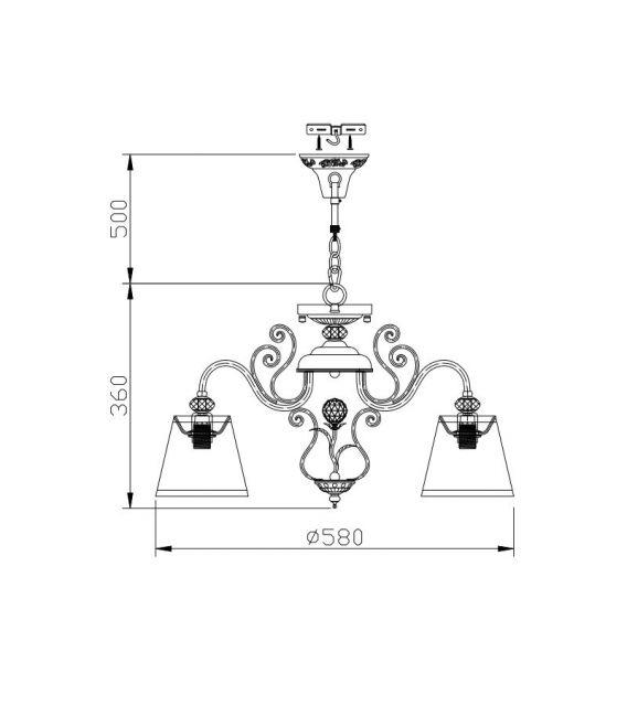 Pakabinamas šviestuvas VINTAGE 5 Bronze ARM420-05-R