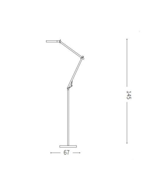 10W LED Toršeras FUTURA Nero Dimeriuojamas 204949