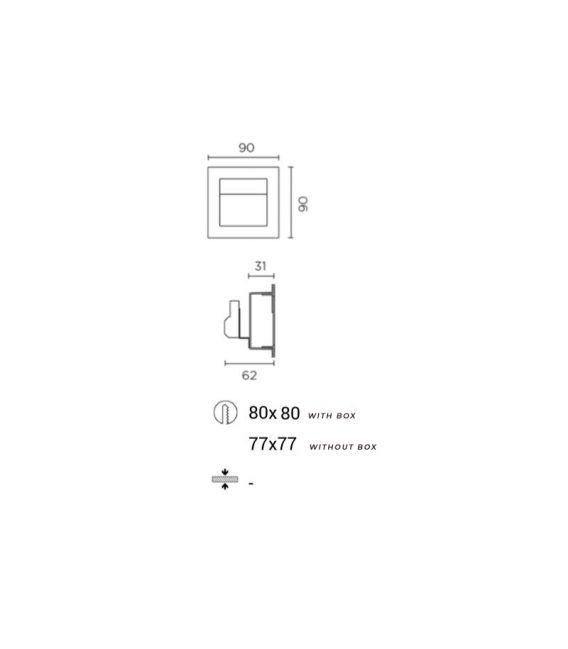 Įmontuojamas šviestuvas SIGN LED EP-0356-14-0