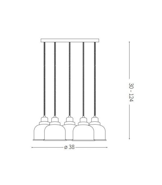 Pakabinamas šviestuvas RUBY SP5 153100