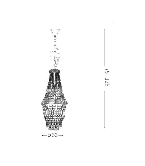 Pakabinamas šviestuvas DUBAI SP5 Brass 200965