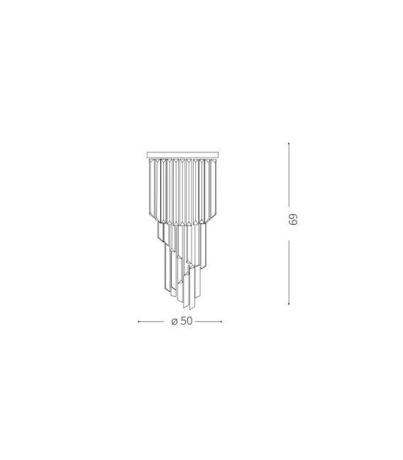 Lubinis šviestuvas CARLTON SP12 Chrome 168937
