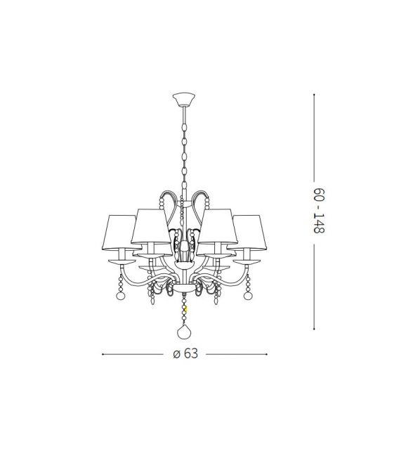 Pakabinamas šviestuvas SENIX SP6 32597