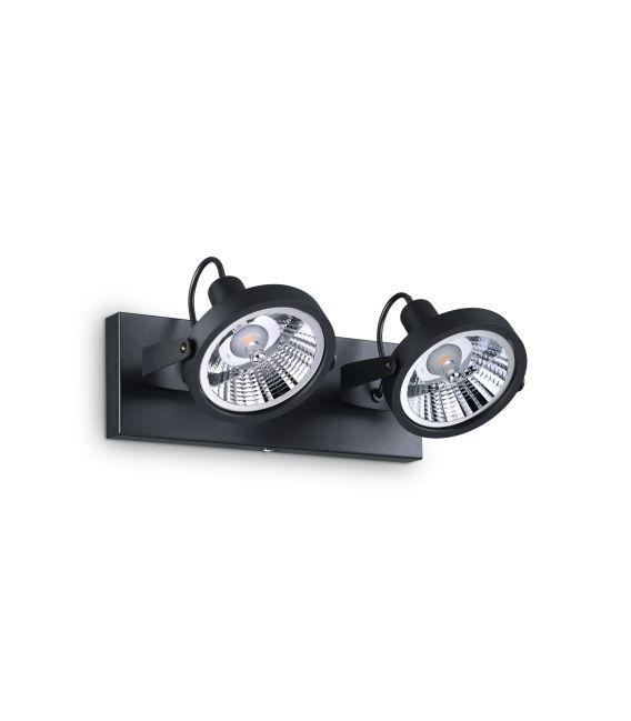Sieninis šviestuvas GLIM 2 Black 200248