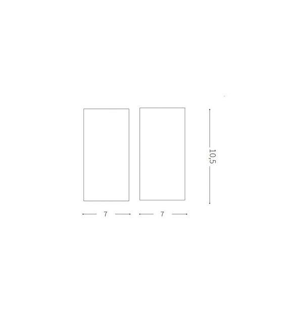 15W LED Lubinis šviestuvas NITRO Square White 206011