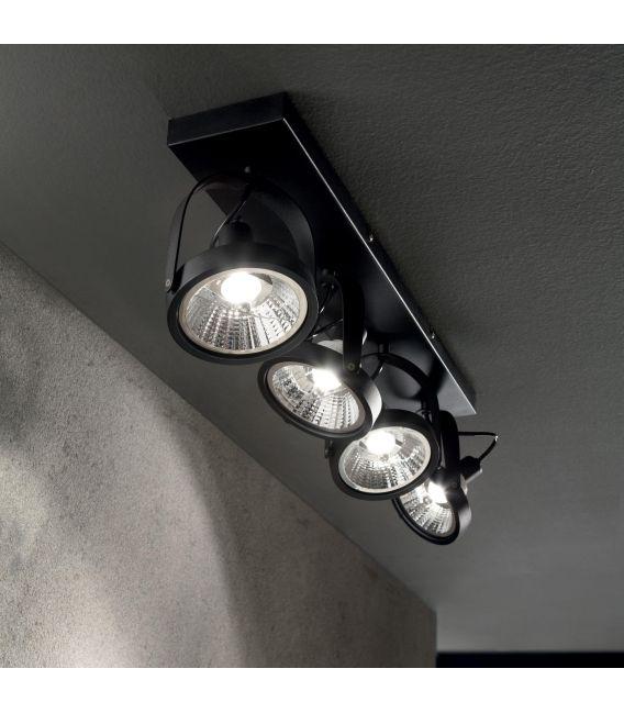 Sieninis šviestuvas GLIM 4 Black 200255