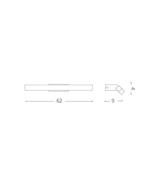 15.3W LED Sieninis šviestuvas RIFLESSO AP90 White IP44 142289