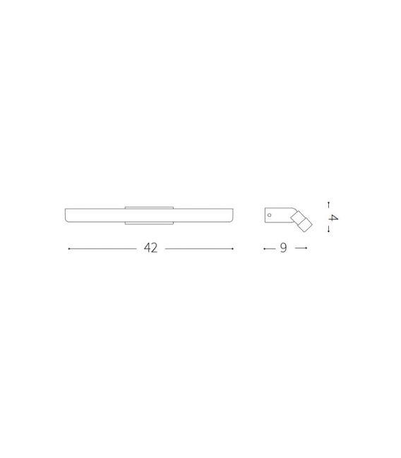 10.2W LED Sieninis šviestuvas RIFLESSO AP60 White IP44 142296