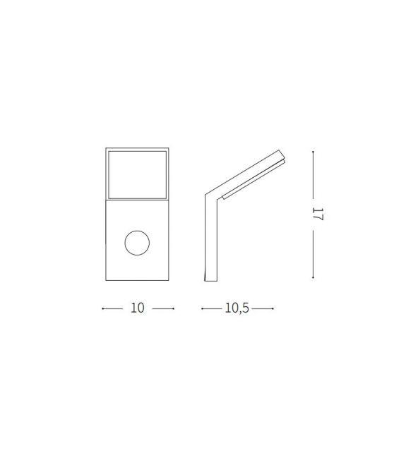 9.5W LED Sieninis šviestuvas STYLE Sensor White IP54 209852